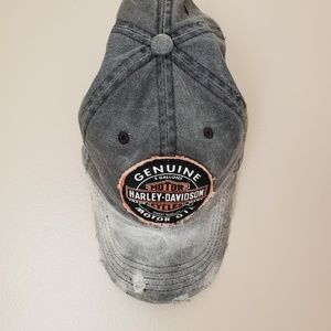 Harley Davidson ] womens distressed hat